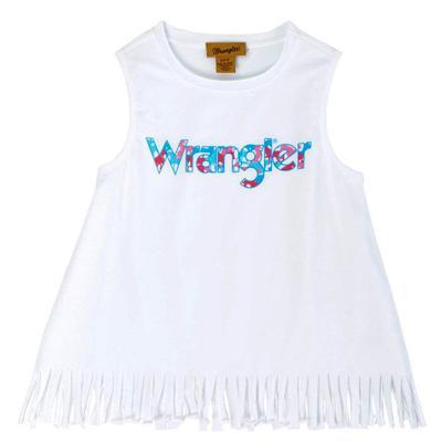 Wrangler Girl's Sleeveless Fringe Tank Top