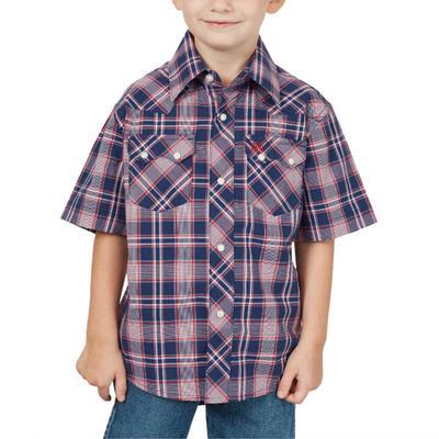 Wrangler Boy's Navy Retro Button Down Shirt