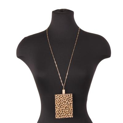 Animal Print Wallet Necklace LEO