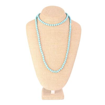 48 Inch Turquoise Beaded Necklace