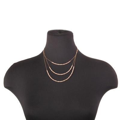 Dainty Multi Strand Beaded Necklace