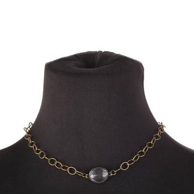 Clear Pendant Chain Necklace
