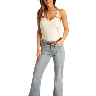 Rock&Roll Women's Light Wash Trouser Jeans