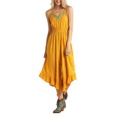 Rock&Roll Women's Sleeveless Ruffle Dress