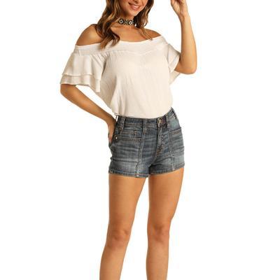 Rock&Roll Women's Medium Washed Shorts