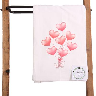 Valentine Balloons Hand Towel