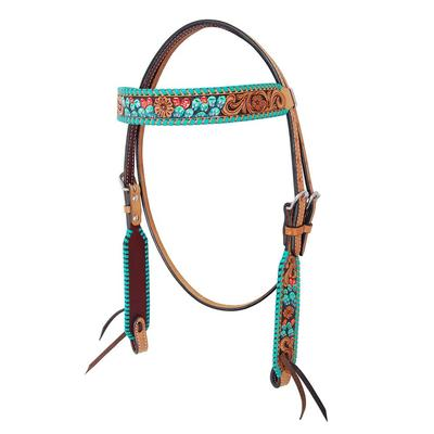 Cactus Tooled Teal Browband