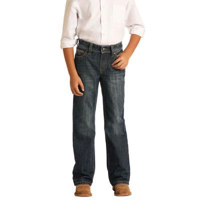 Rock&Roll Boy's Dark Vintage Bootcut Jeans
