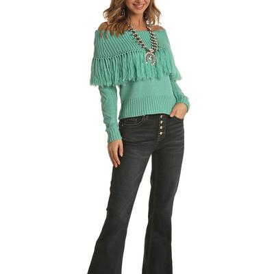 Rock&Roll Women's Off the Shoulder Sweater