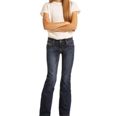 Rock&Roll Girl's Dark Wash Bootcut Jeans