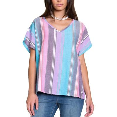 Dylan Women's Multicolored Stripped Top