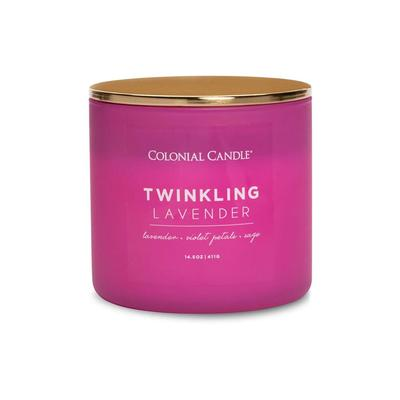 Pop Of Color Twinkling Lavender Candle