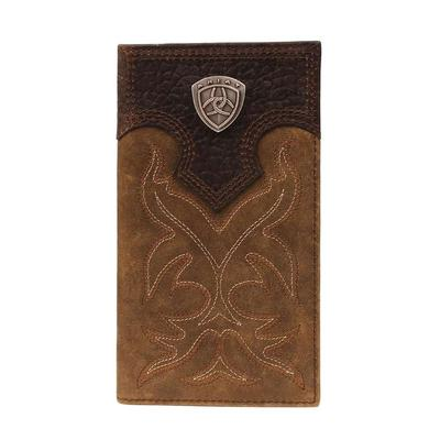 Ariat Men's Rodeo Boot Stitched Shield Wallet