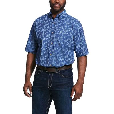 Ariat Men's Ravares Print Stretch Classic Fit Shirt