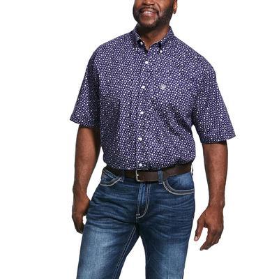 Ariat Men's Ulton Wrinkle Free Print Classic Fit Shirt