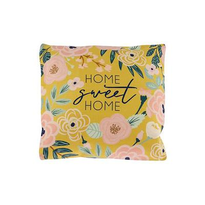 Home Sweet Home Mustard Floral Pillow