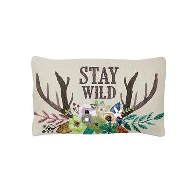 Stay Wild Deer Lumbar Pillow