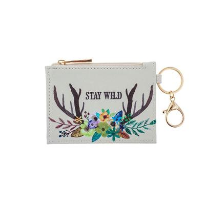 Deer Zip ID Holder