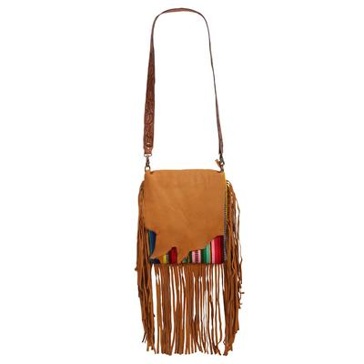 American Darling Rugged Leather & Rainbow Crossbody Purse