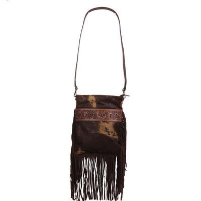 American Darling Dark Hide & Tooled Detailed Bag