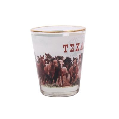 Texas Horses Shot Glass