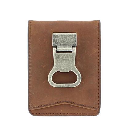 Men's Bifold Wallet With Bottle Opener Clip