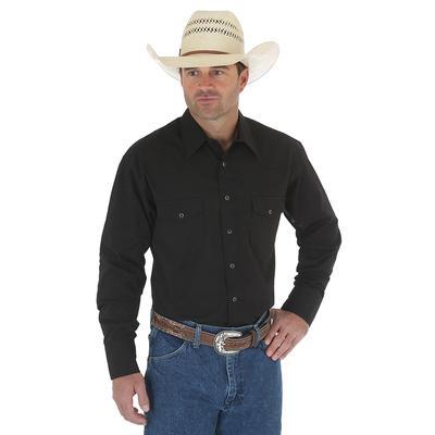 Wrangler Western Long Sleeve Black Snap Shirt