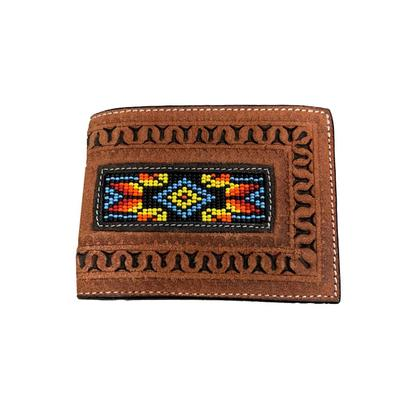 Twisted X Men's Rough Out Beaded bifold Wallet
