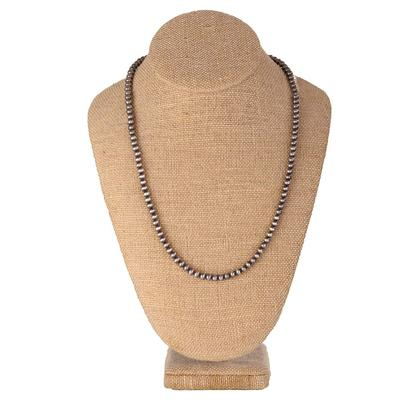 Sterling Silver 22 Inch Navajo Pearl Necklace