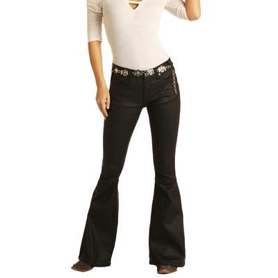 Rock&Roll Women's Black Flare Jeans