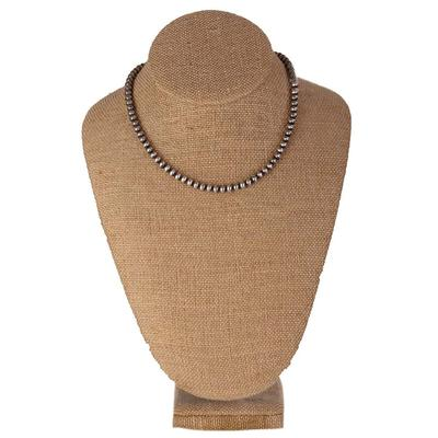 16 Inch Sterling Silver Navajo Pearl Necklace- 5mm
