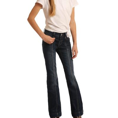 Rock&Roll Girl's Front Seam Trouser Jeans