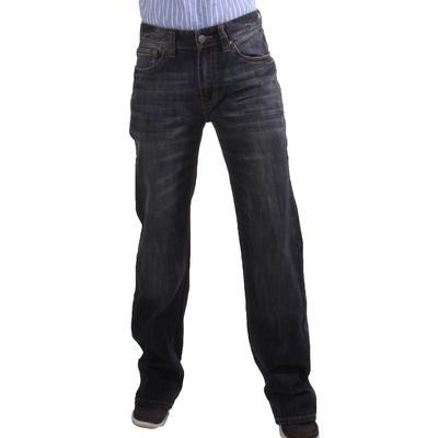 Rock & Roll Men's Double Barrel Straight Leg Dark Wash Jeans