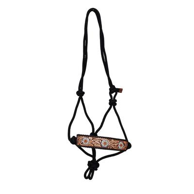 Daisy Tooled Rope Halter