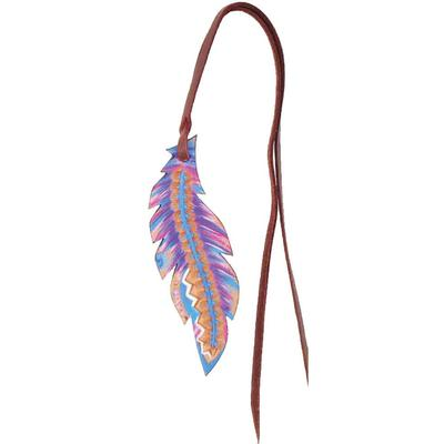 Small Painted Feather Saddle Charm