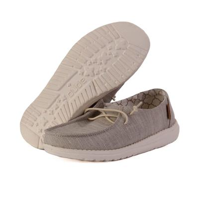 Hey Dude Youth Beige Wendy Linen Shoes