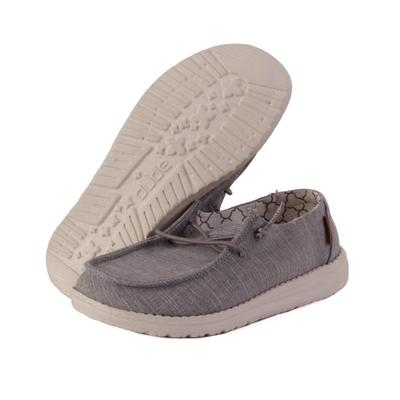 Hey Dude Youth Grey Wendy Linen Shoes