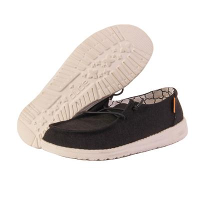 Hey Dude Youth Black Wendy Linen Shoes