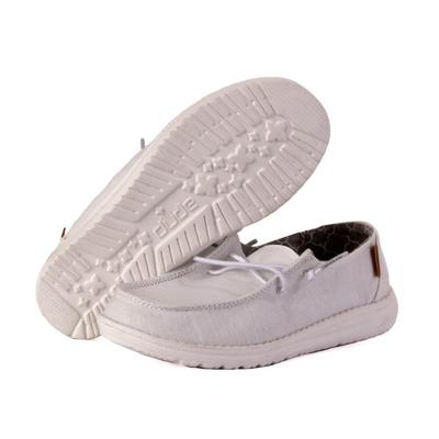 Hey Dude Youth White Wendy Linen Shoes