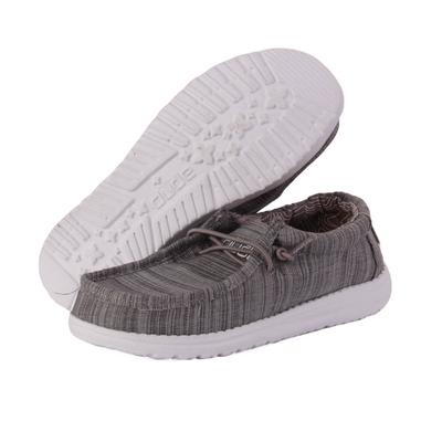 Hey Dude Youth Stone Wally Linen Shoes