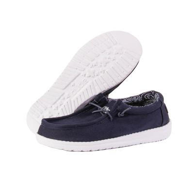 Hey Dude Youth Navy Wally Shoes