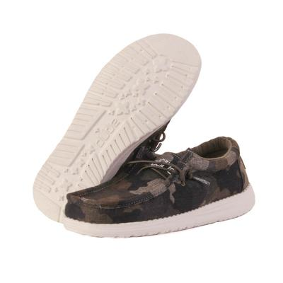 Hey Dude Youth Camo Wally Linen Shoes
