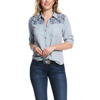 Ariat Women's Long Road Button Up Shirt