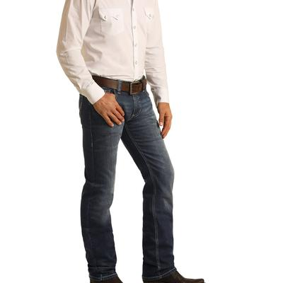 Rock & Roll Men's Revolver Dark Vintage Slim Fitting Jean