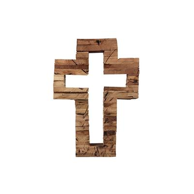 Reclaimed Rustic Wood Tabletop Cross