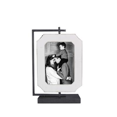 2 sided Vertical Wooden Spinning Picture Frame