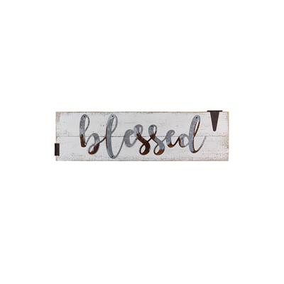 Wood & Tin Blessed Wall Sign