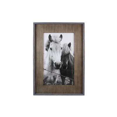 Wood Framed Horse Print Wall Art