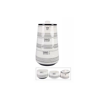 Ceramic Stacking Yum Canister Set