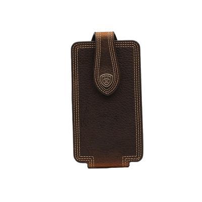 Dark Brown Leather Phone Case